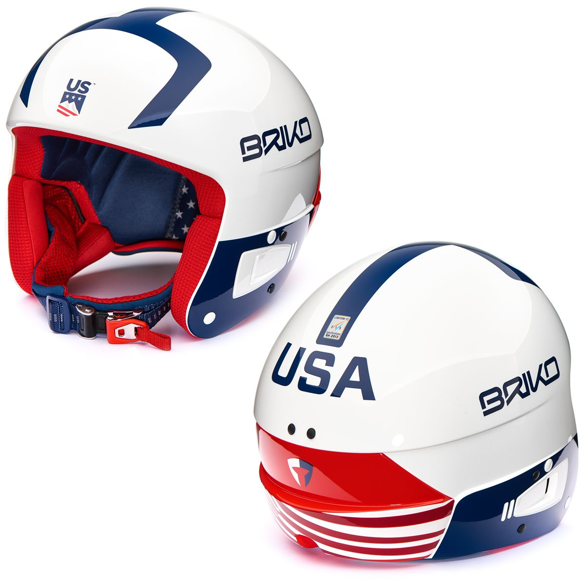 Briko HELMETS VULCANO FIS 6.8 - USSA Helmet USA Junior Boy Girl