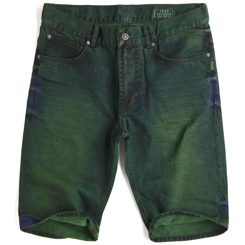 Jesus Jeans Pantaloncini 1050 OILGREEN Uomo Donna Denim 5 Tasche