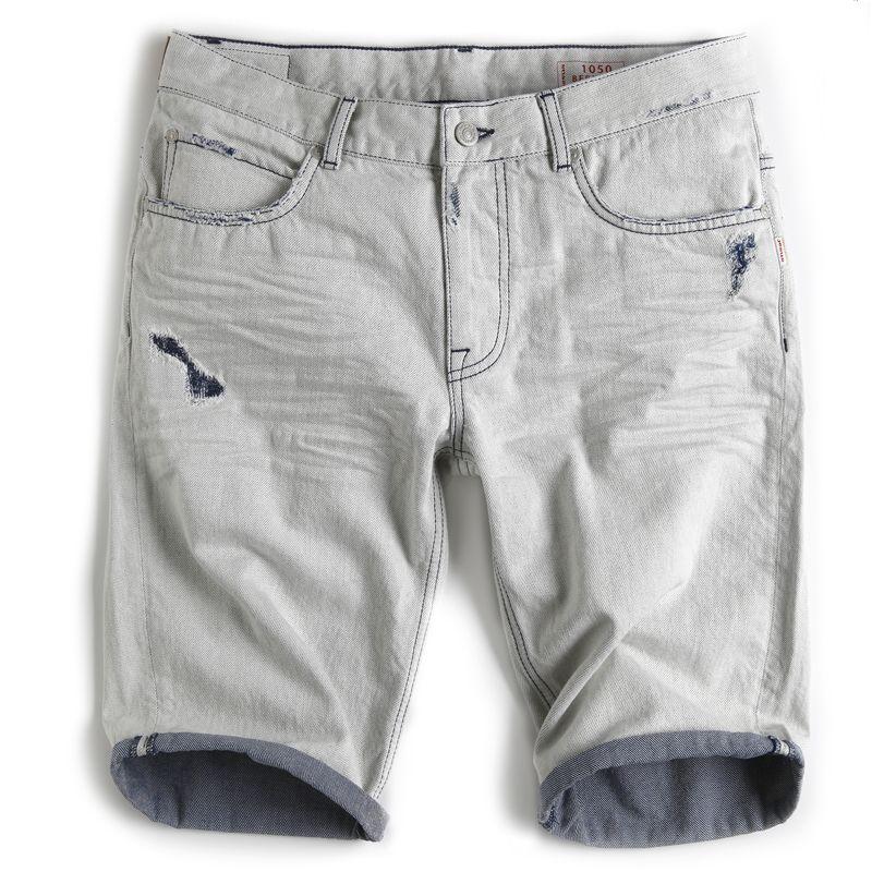 Jesus Jeans Pantaloncini 1050 BIDRILL Uomo Donna Denim 5 Tasche
