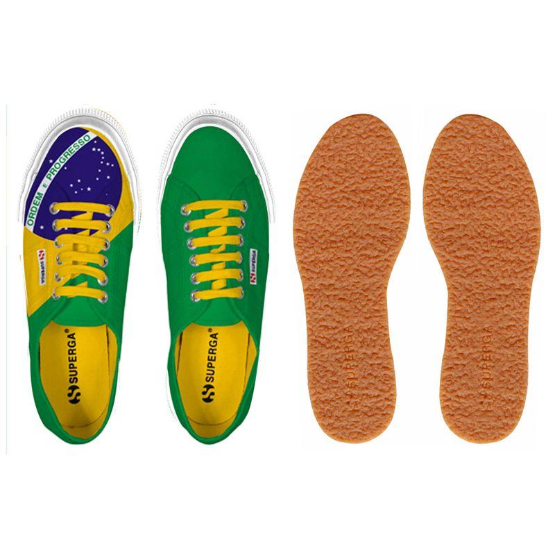 Superga Scarpe ginnastica 2750-COTU FLAG BRAZIL Uomo Donna Classico Sneaker