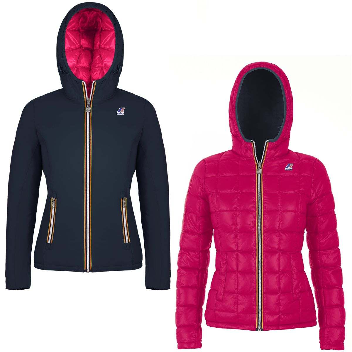 Giubbotto impermeabile K-way donna LILY THERMO PLUS DOUBLE-K002II0