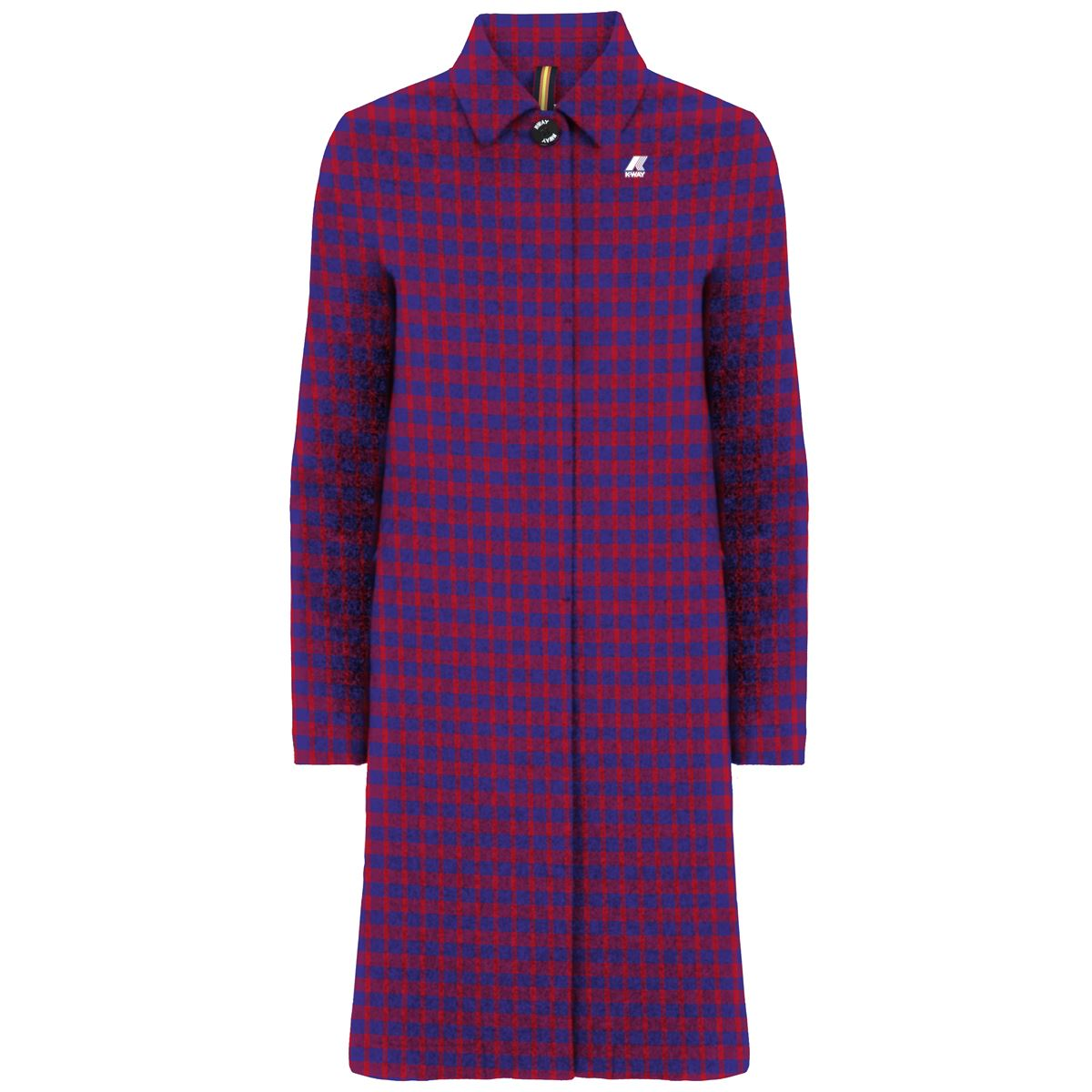 Giubbotto impermeabile K-way donna JULIANE WARM WOOL TARTAN-K009N90