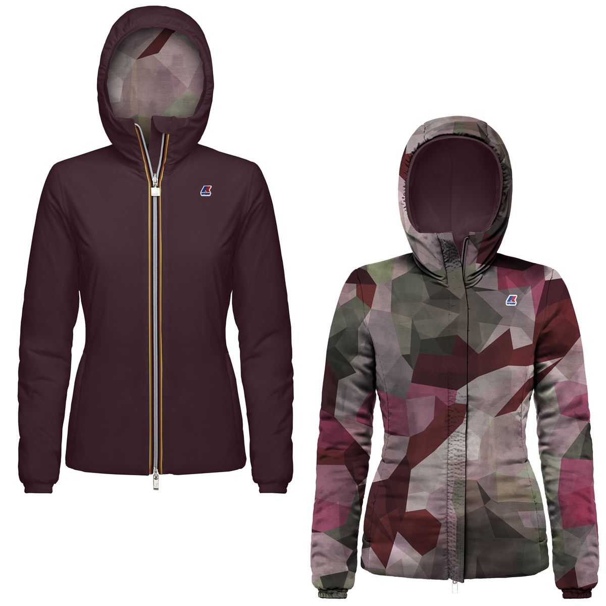 Giubbotto impermeabile K-way donna LILY WARM DOUBLE GRAPHIC-K00A3I0