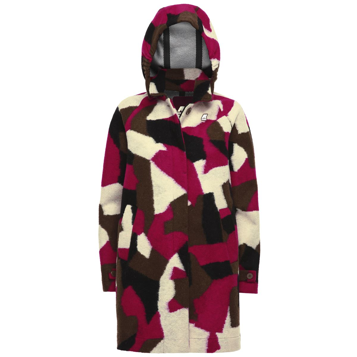 Giubbotto impermeabile K-way donna NOEMIE WOOL 3 LAYER GRAPHIC-K00A5J0