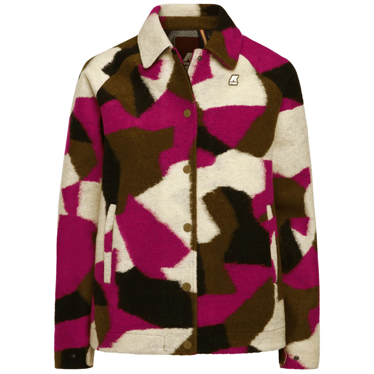 Giubbotto impermeabile K-way donna SOIZIC WOOL 3 LAYER GRAPHIC-K00A5K0