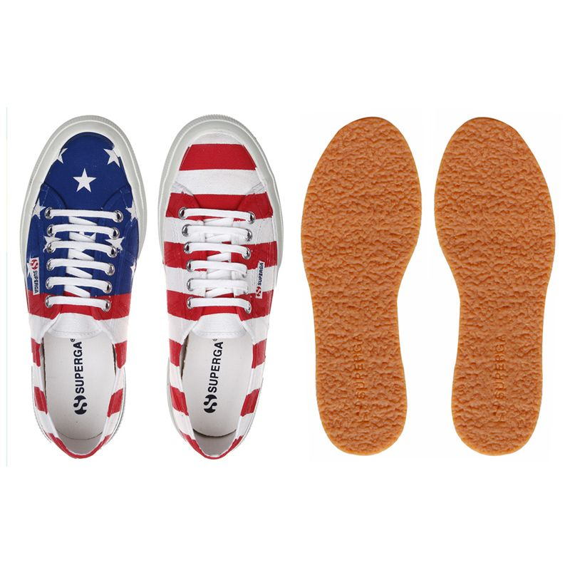 Superga LE SUPERGA 2750-COTU FLAG USA Man Woman Leisure Sneaker