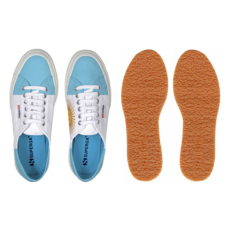 Superga LE SUPERGA 2750-COTU FLAG ARGENTINA Man Woman Leisure Sneaker