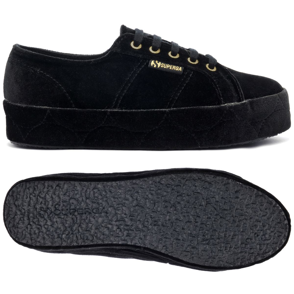 Superga Lady Shoes Woman 2730-VELVETCHENILLEW FCOVERED CHIC Wedge